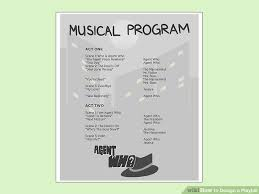 playbill wedding program how to design a playbill 13 steps with pictures wikihow