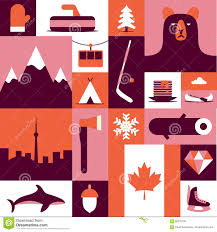kanada fläche kanada flache illustration des vektors ikonensatz hintergrund