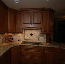 Kitchen Ideas With Cherry Cabinets by Starmark Cherry Cabinets With Harvest Stain And Chocolate Glaze