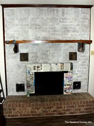 whitewashing a dated fireplace the weekend country