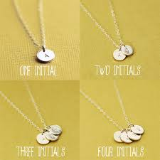 customized necklace silver initials necklace 4 initials sterling silver