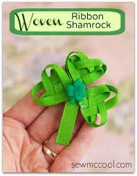 shamrock ribbon woven ribbon shamrock tutorial sew mccool
