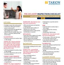 Home Inspection Checklist by Pre Delivery Inspection Checklist Tarion Com