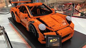 lego technic porsche full scale porsche 911 gt3 rs brings a lego kit to life