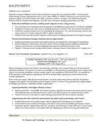 Cover letter  Senior vice president for executive resume format of the special resume sample ideas Kemplu