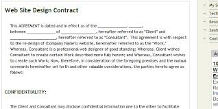 free logo and web design contract templates designmodo