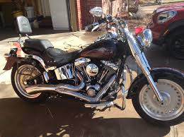 2007 harley davidson flstf softail fat boy black aurora