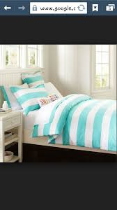 turquoise striped bedding on the hunt