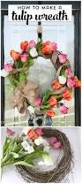 Tulip Wreath Diy Wreath Projects 50 Easy Diy Wreath Ideas Page 8 Of 8 Diy