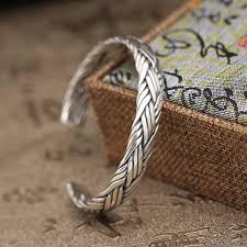 sterling silver cuff bangle bracelet images 39g pure solid sterling silver 925 braided weave cuff bangle jpg