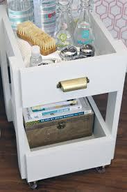 Rolling Bathroom Storage Cart by Iheart Organizing Diy Rolling Storage Cart