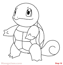 how to draw squirtle from pokemon mangajam com