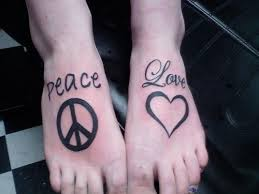 32 best peace sign tattoos on foot images on pinterest free ink
