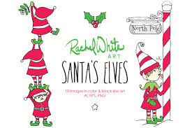 santa u0027s elves vector u0026 png illustrations creative market