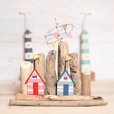 driftwood huts freestanding ornament by berry apple