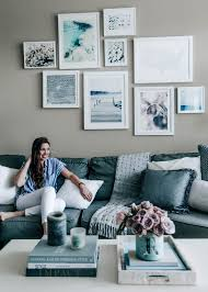 Blue Gray Living Room Spring Home Refresh Part 2 Pretty In The Pines North Carolina