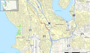 Seattle County Map by Washington State Route 599 Wikipedia