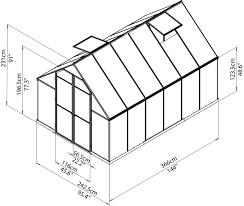 8 X 12 Greenhouse Kits Palram Essence Twinwall Glazing 8x12 Greenhouse Palram