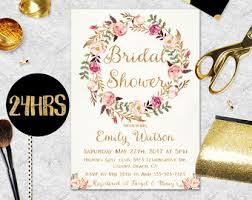 bridal invitation bridal shower invitation etsy