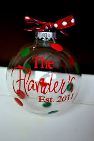 personalized clear glass ornament inside