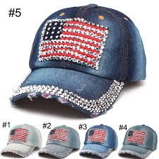American Flag Visor Women Baseball Caps Hats 2016 Summer American Flag Hat Cowboy