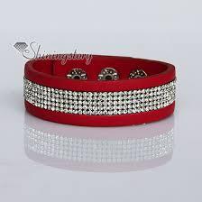 leather rhinestone bracelet images Crystal rhinestone slake bracelets pu leather bracelets wristbands jpg