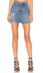 denim skirts grlfrnd a frame gusset skirt in walk this way revolve