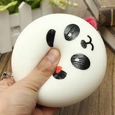 5pcs kawaii jumbo panda squishy buns cell phone bag strap pendant