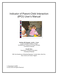 indicator of parent child interaction ipci user u0027s manual pdf