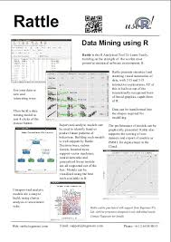 Best R by Togaware Rattle A Graphical User Interface For Data Mining Using R