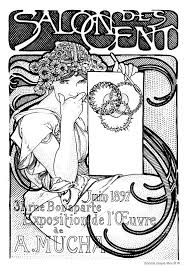 alphonse mucha coloring pages 28 images alphonse mucha