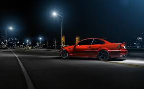 cars bmw red wallpaper car bmw m3 e46 red rear street hd picture image u2022 onedslr