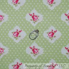 shabby chic white quilt boneful fabric cotton quilt green white pink shabby chic s dot