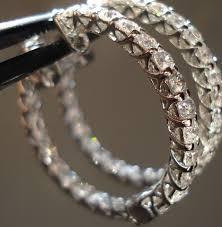 diamond hoops inside out diamond earrings diamond hoop earrings 25mm diamond