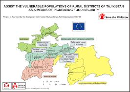 Tajikistan Map Assist The Vulnerable Populations Of Rural Districts Of Tajikistan