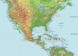New York Relief Map by Digital Vector North America Medium Relief Map In Illustrator Cs
