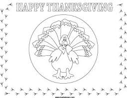 turkey placemats thanksgiving coloring place mat