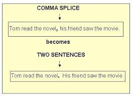 comma splices and fused sentences