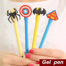 Batman Desk Accessories Cheap Gel Pen Superman Batman Captain Kawaii