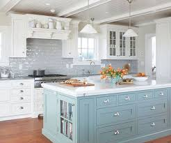 classic white and blue kitchen