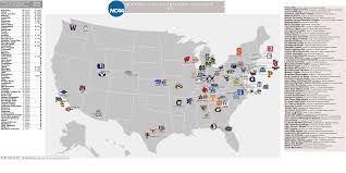 Colleges In Florida Map by Ncaa Men U0027s Basketball Billsportsmaps Com