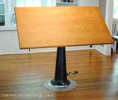 What Is A Drafting Table Vintage Industrial Nike Adjustable Drafting Table Desk Pub Table