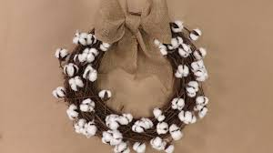 diy cotton boll wreath southern living
