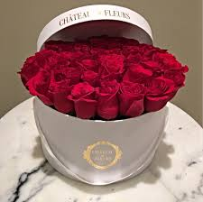 boxed roses signature box chateau des fleurs collection