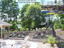 backyard landscaping plans triyae com u003d ideas for backyard with slope various design
