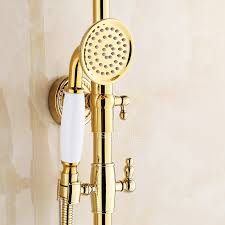 Brass Shower Faucets Polished Brass Shower Faucet Fixtures For Bathroom
