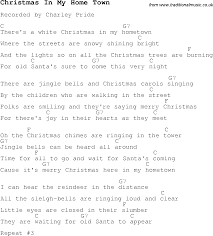 christmas carol song lyrics with chords for christmas in my home town