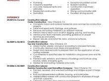 Labourer Resume Template Free Laborer Resume Templates Free Resume