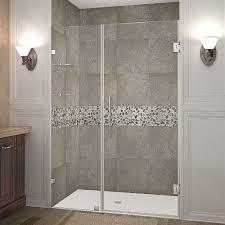 Hinged Glass Shower Door Aston Nautis Gs 48 In X 72 In Frameless Hinged Shower Door In
