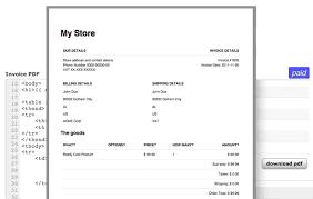 invoice template html code invoice sample template